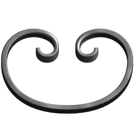 Фигурный элемент 100/12.6 изготовлен из металла