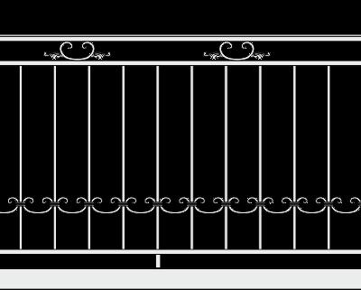 Кованое ограждение балкона 301