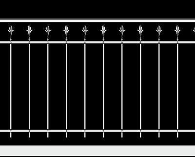 Кованое ограждение балкона 303