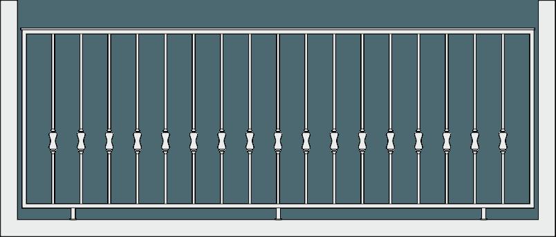 Кованое ограждение балкона 305