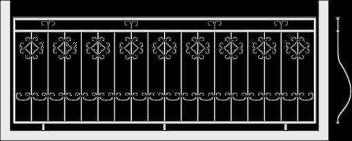 Кованое ограждение балкона 306