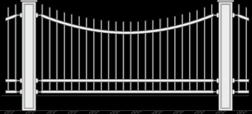 Кованый забор 402