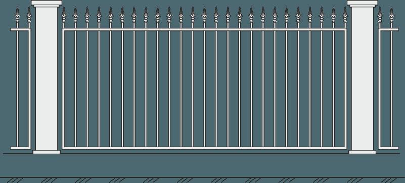 Кованый забор 403
