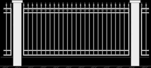 Кованый забор 404