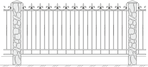 Кованый забор 406