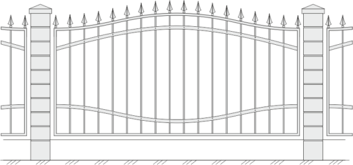 Кованый забор 408