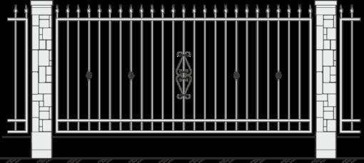 Кованый забор 409
