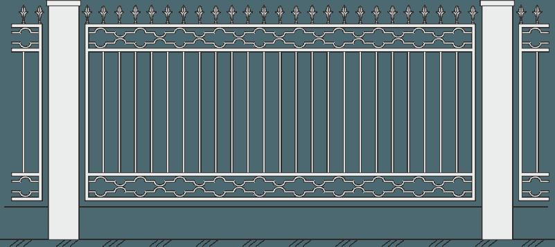 Кованый забор 418