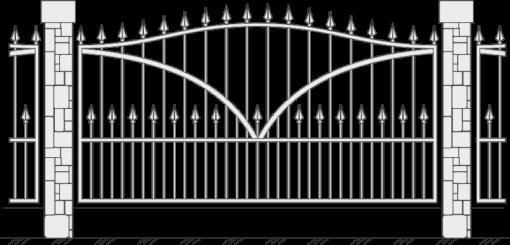 Кованый забор 419