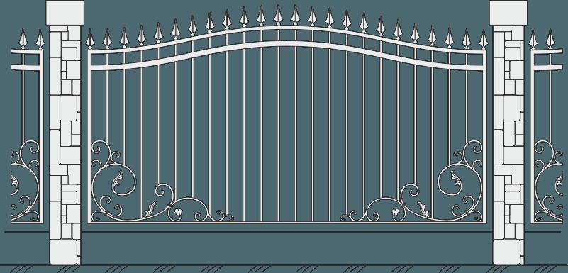 Кованый забор 422