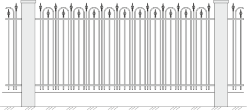 Кованый забор 423