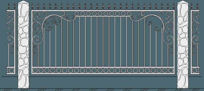 Кованый забор 424