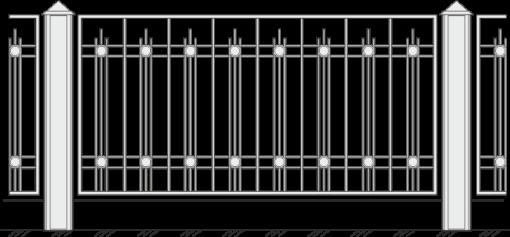 Кованый забор 429