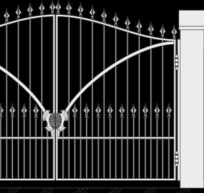 Кованые ворота с калиткой 508
