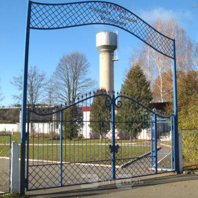 кованые ворота с калиткой 532