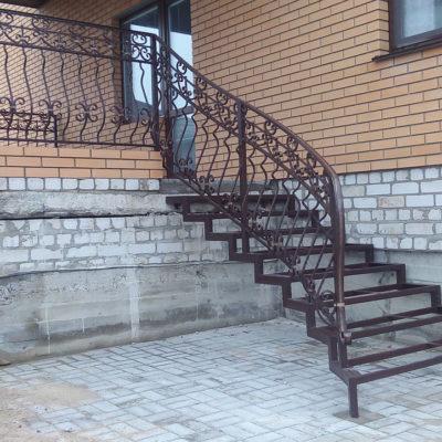 кованая лестница Л 003